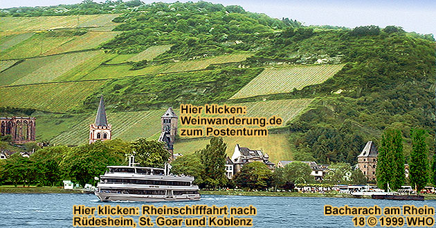 Boat cruise on the Rhine River from Rudesheim and Bingen along Bacharach and the Lorelei Rock to St. Goar with castle Rheinfels
