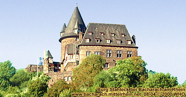 Castle Stahleck high above Bacharach on the Rhine River.