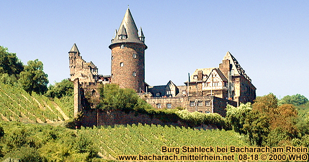 Castle Stahleck high above Bacharach on the Rhine River